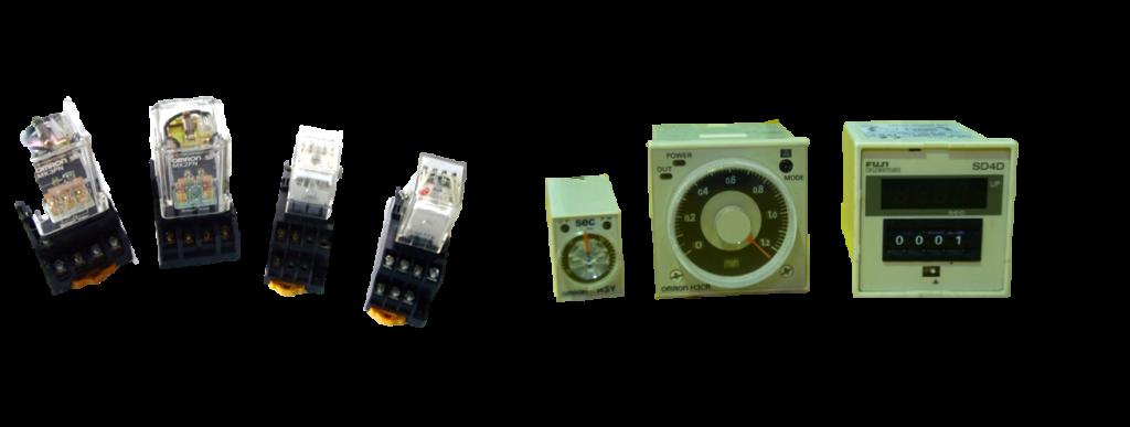 電磁リレーと電子タイマー