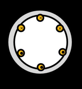 三相誘導電動機のコイル電流の向き