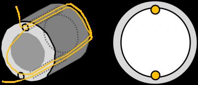 三相モーターの回転原理を説明するためのイラスト