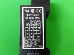 ソケットに書かれた電磁リレーの接点構成