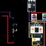 電磁開閉器を使う三相モーター始動回路の写真2