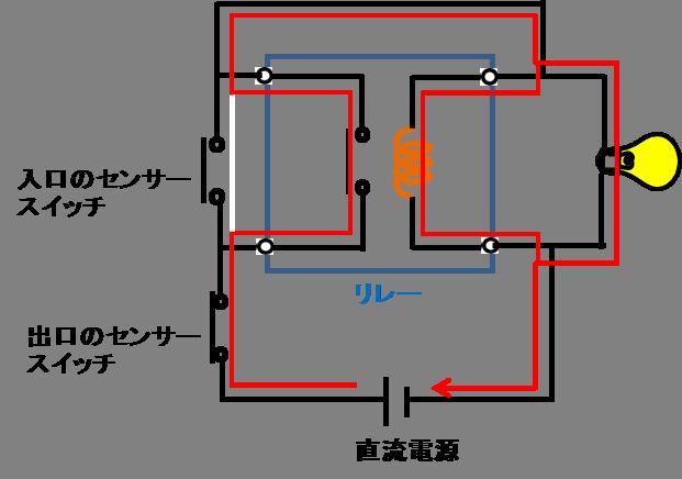 リレーを使う保持制御回路3