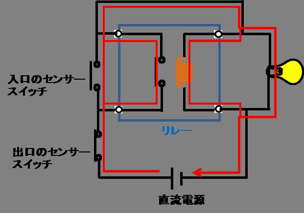 リレーを使う保持制御回路2