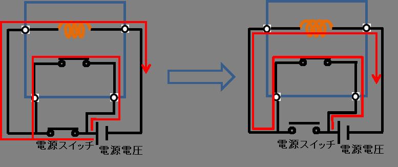 自己保持回路の動作説明2