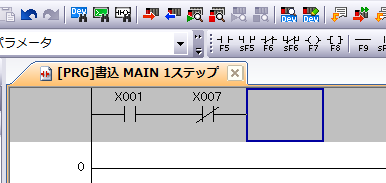 GXWorks2のb接点の書き方2