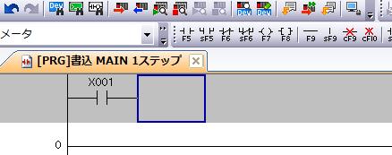 GXworks2のa接点の書き方2