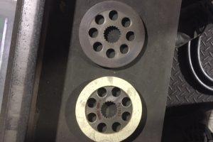 三菱ホイスト微速部のブレーキ板